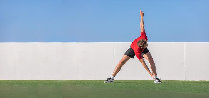 Dynamisch stretchen: vijf topoefeningen
